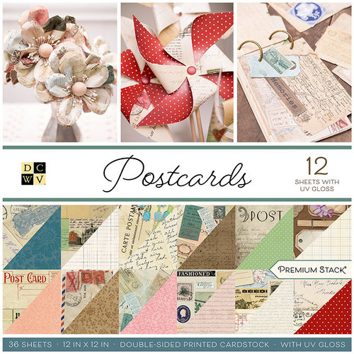 Die Cuts with a View - Postcards Collection - Gloss Paper Stack - 12 x 12