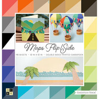 Die Cuts with a View - Maps Flip and Side Collection - Paper Stack - 12 x 12