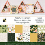 Die Cuts with a View - Peachy Evergreen Collection - Foil Paper Stack - 12 x 12