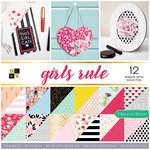 Die Cuts with a View - Girls Rule Collection - Foil Paper Stack - 12 x 12