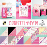 Die Cuts with a View - Confetti Party Collection - Foil Paper Stack - 12 x 12