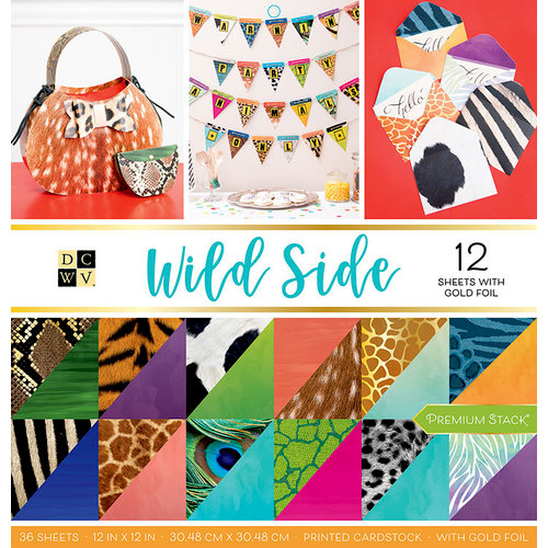 Die Cuts with a View - Wild Side Collection - Foil Paper Stack - 12 x 12