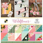 Die Cuts with a View - Wildflower Collection - Foil Paper Stack - 12 x 12