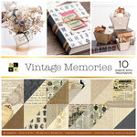 Die Cuts with a View - Vintage Memories Collection - Foil and Gloss Paper Stack - 12 x 12
