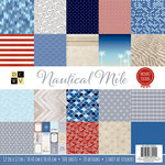 Die Cuts with a View - Nautical Mile Collection - Paper Stack - 12 x 12