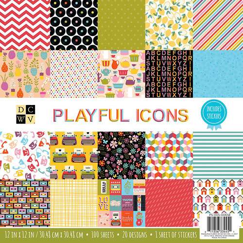 Die Cuts with a View - Playful Icons Collection - Paper Stack - 12 x 12