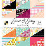 Die Cuts with a View - Sweet and Sassy Collection - Foil Paper Stack - 6 x 6