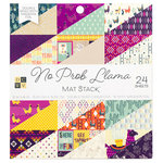 Die Cuts with a View - No Prob Llama Collection - Foil Paper Stack - 6 x 6