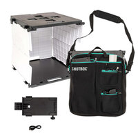 We R Memory Keepers - ShotBox Collection - Portable Photo Studio Kit, Side Shot Arm Attachment and Premium Storage Bag Bundle