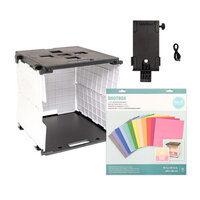 We R Memory Keepers - ShotBox Collection - Portable Photo Studio Kit, Side Shot Arm Attachment and Color Backgrounds Bundle