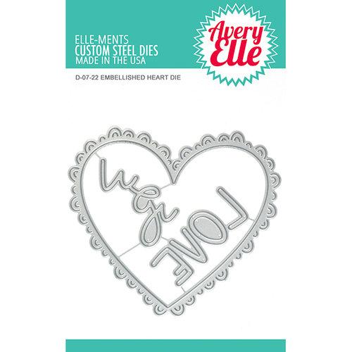 Avery Elle - Elle-ments Dies - Embellished Heart