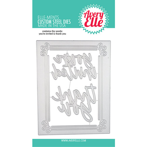 Avery Elle - Elle-Ments Dies - Invitation Frame