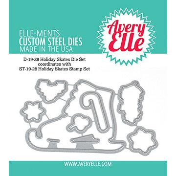 Avery Elle - Christmas - Elle-Ments Dies - Holiday Skates