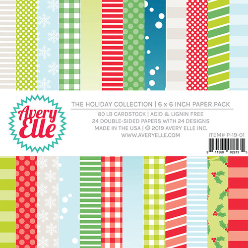 Avery Elle - The Holiday Collection - 6 x 6 Paper Pad