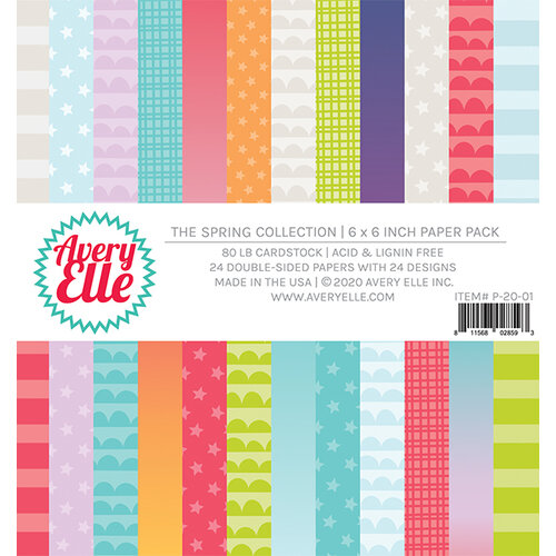 Avery Elle - Spring Collection - 6 x 6 Paper Pad