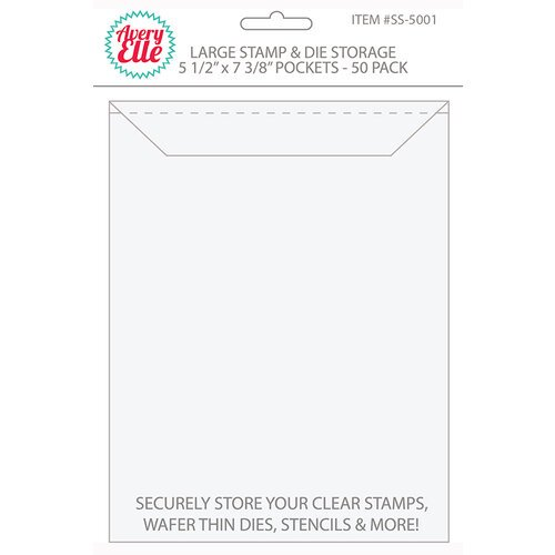 Avery Elle - Stamp and Die Storage Pockets - Large - 50 Pack