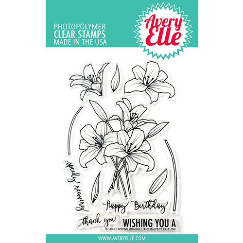 Avery Elle - Clear Photopolymer Stamps - Spring Bouquet