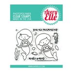 Avery Elle - Clear Acrylic Stamps - Mermaids