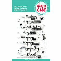 Avery Elle - Clear Acrylic Stamps - Loads of Wishes