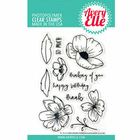 Avery Elle - Clear Acrylic Stamps - Handdrawn Florals