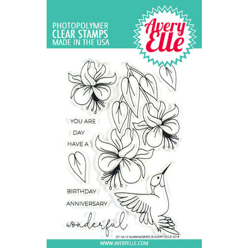 Avery Elle - Clear Photopolymer Stamps - Hummingbird