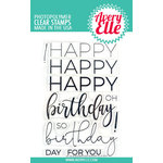 Avery Elle - Clear Acrylic Stamps - Big Birthday