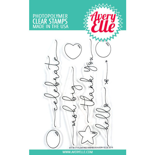 Avery Elle - Clear Photopolymer Stamps - Floating Wishes