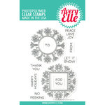 Avery Elle - Christmas - Clear Photopolymer Stamps - Snow Tags