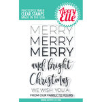 Avery Elle - Christmas - Clear Photopolymer Stamps - Merry Merry