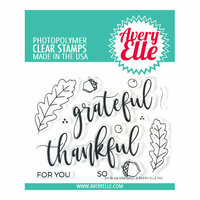 Avery Elle - Clear Photopolymer Stamps - Grateful