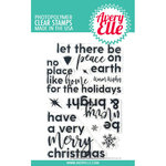 Avery Elle - Christmas - Clear Photopolymer Stamps - Corner Sentiments - Holiday