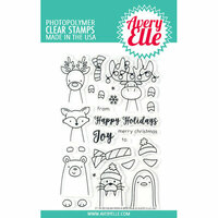 Avery Elle - Christmas - Clear Photopolymer Stamps - Polar Bear Peek-A-Boo Pals