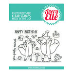 Avery Elle - Clear Photopolymer Stamps - Party Fox