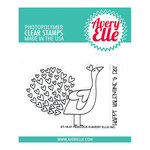 Avery Elle - Clear Photopolymer Stamps - Peacock