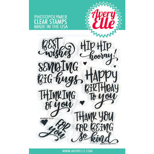 Avery Elle - Clear Photopolymer Stamps - So Kind