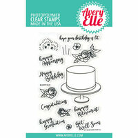 Avery Elle - Clear Photopolymer Stamps - Cake For All
