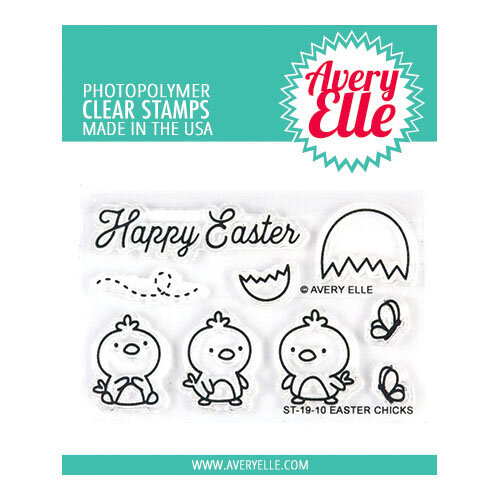 Avery Elle - Clear Photopolymer Stamps - Easter Chicks