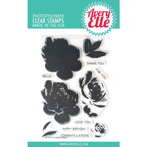 Avery Elle - Clear Photopolymer Stamps - Layered Rose