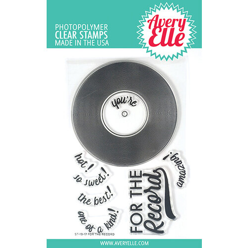 Avery Elle - Clear Photopolymer Stamps - For The Record