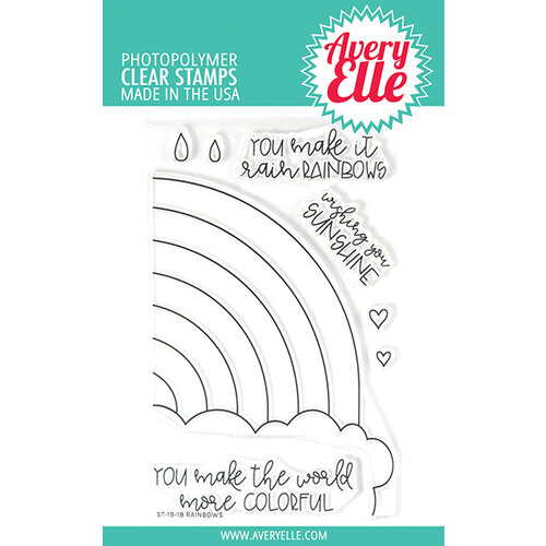 Avery Elle - Clear Photopolymer Stamps - Rainbows