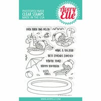 Avery Elle - Clear Photopolymer Stamps - Pool Party