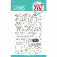 Avery Elle - Clear Photopolymer Stamps - Peek-A-Boo Summer Pals