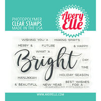 Avery Elle - Christmas - Clear Photopolymer Stamps - Simply Said - Bright
