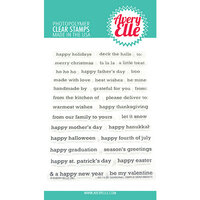 Avery Elle - Christmas - Clear Photopolymer Stamps - Seasonal Simple Sentiments
