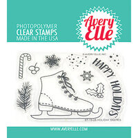 Avery Elle - Christmas - Clear Photopolymer Stamps - Holiday Skates