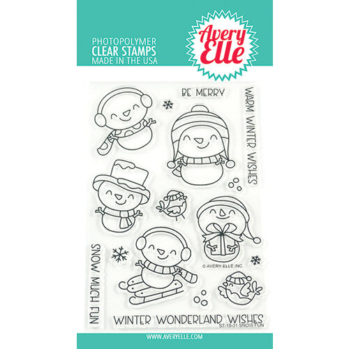 Avery Elle - Christmas - Clear Photopolymer Stamps - Snow Fun