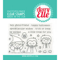 Avery Elle - Clear Photopolymer Stamps - Peek-A-Boo Pals - Spooktacular