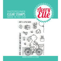 Avery Elle - Clear Photopolymer Stamps - Wheelie Great