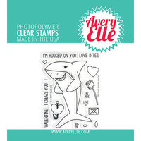 Avery Elle - Clear Photopolymer Stamps - Shark Hugs