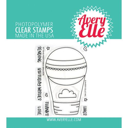 Avery Elle - Clear Photopolymer Stamps - Peek-A-Boo Balloon